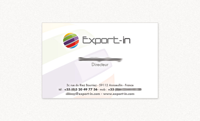 carte de visite Export-in