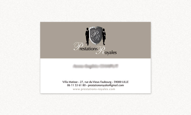 carte de visite Prestations Royales