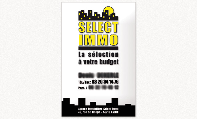 carte de visite Select-immo